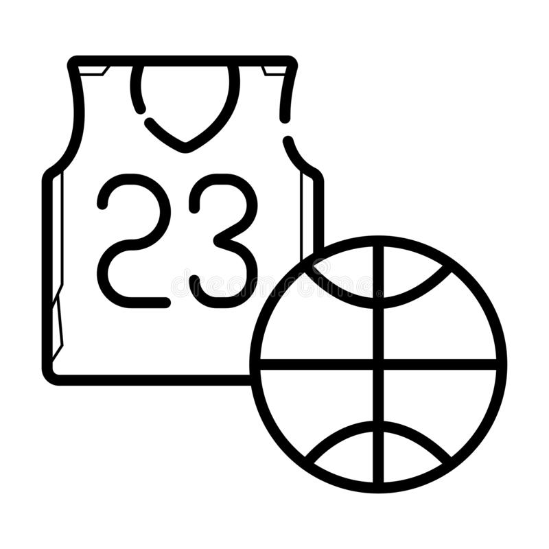 het pictogram van basketbaljersey stock illustratie
