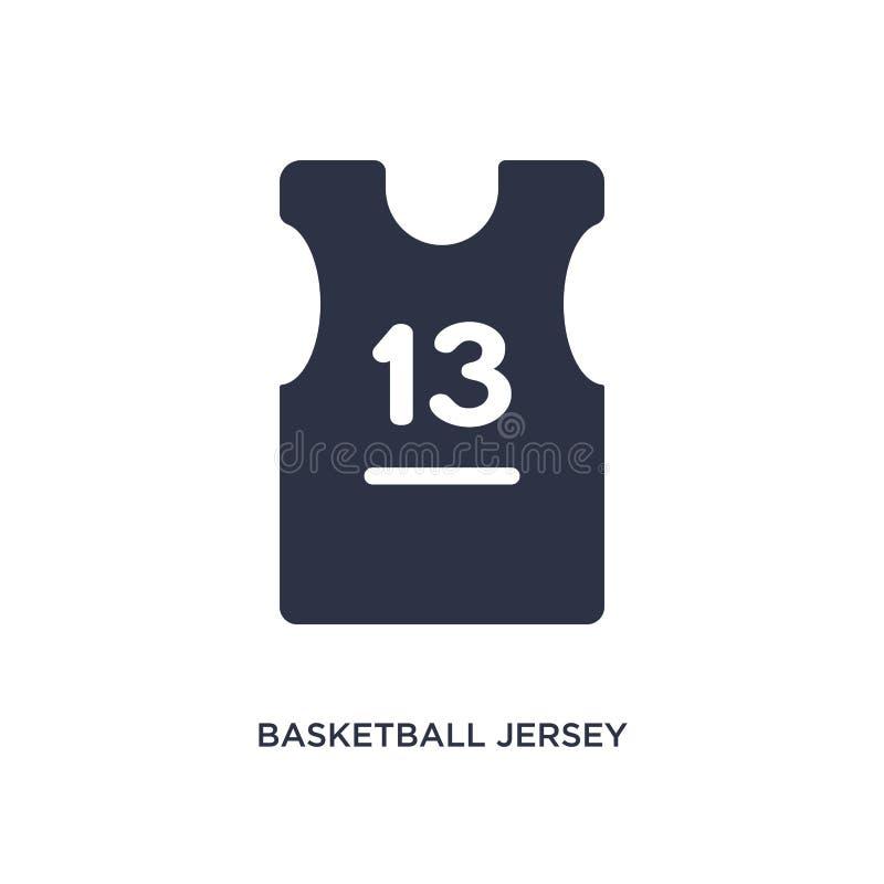 het pictogram van basketbaljersey op witte achtergrond Eenvoudige elementenillustratie van klerenconcept vector illustratie