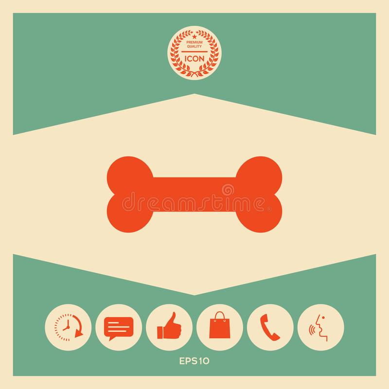 Het pictogram van het beensymbool stock illustratie