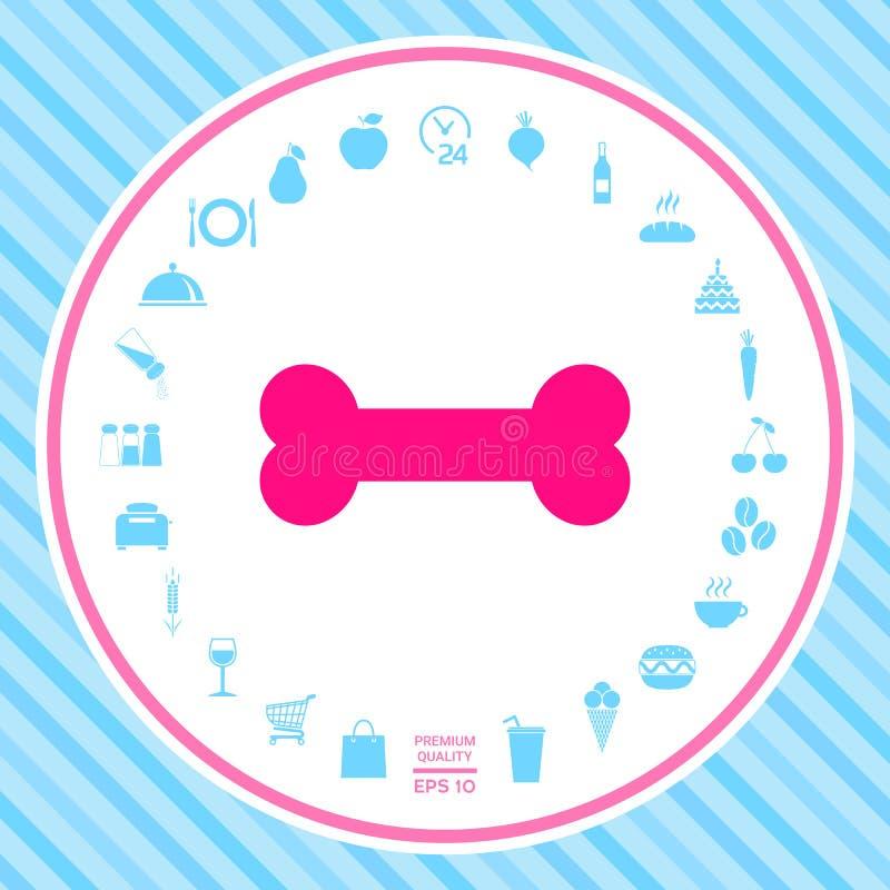 Het pictogram van het beensymbool royalty-vrije illustratie