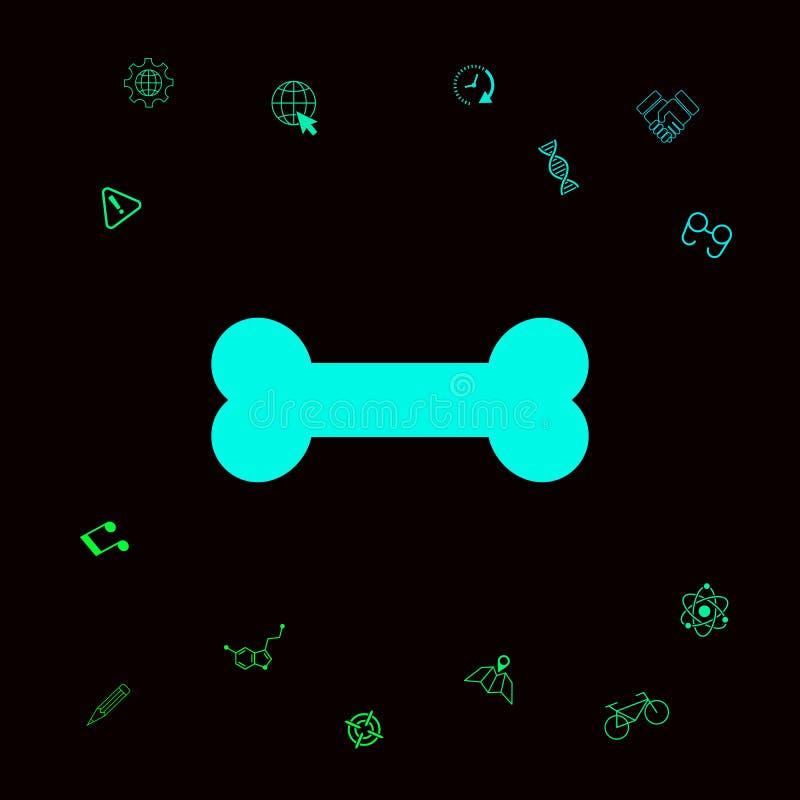 Het pictogram van het beensymbool vector illustratie