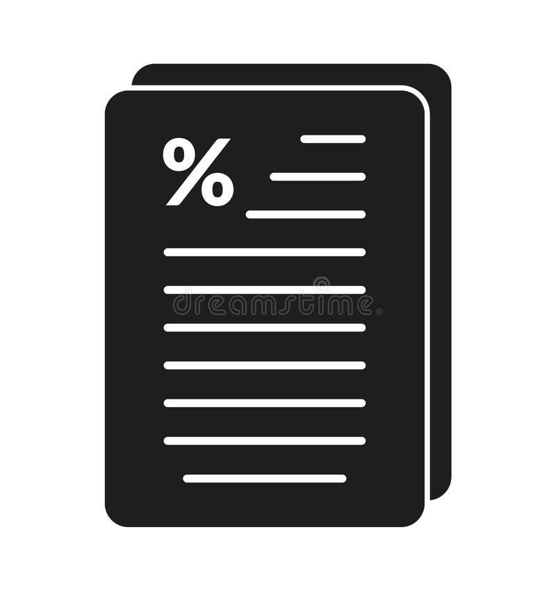 Het Pictogram van het belastingsrapport vector illustratie