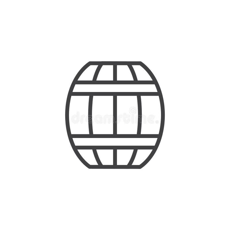 Het pictogram van het biervatoverzicht vector illustratie