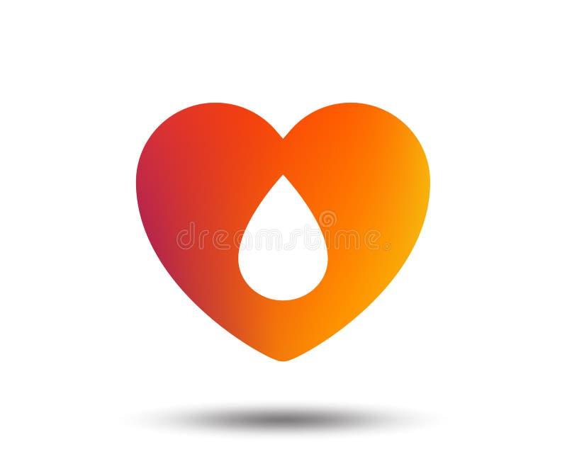 Het pictogram van het bloeddonatieteken Medische schenking stock illustratie