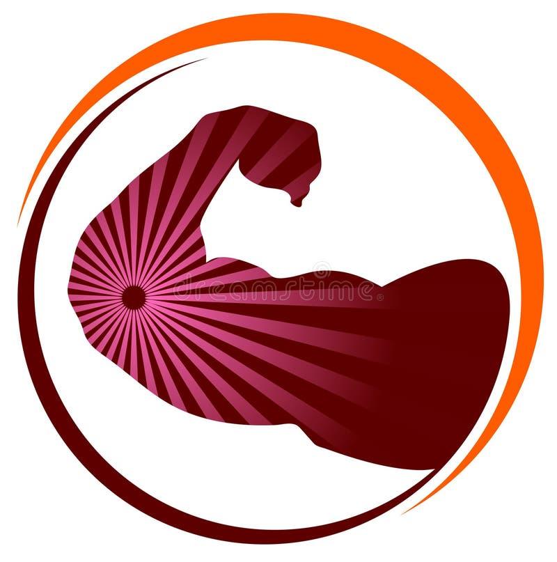 Het pictogram van Bodybuilding stock illustratie
