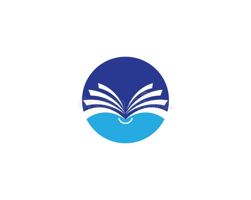 Het pictogram van het boekembleem stock illustratie