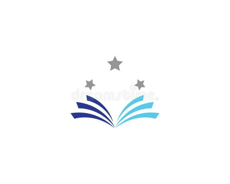 Het pictogram van het boekembleem vector illustratie