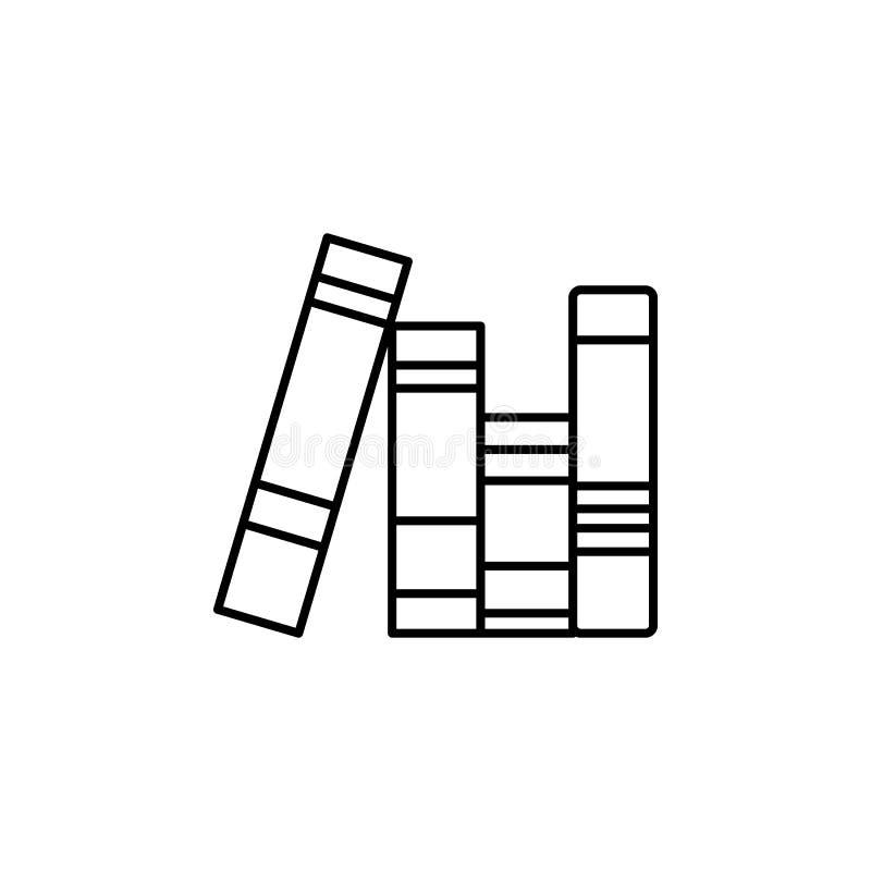 Het pictogram van boeken Element van Webpictogram voor mobiel concept en Web apps royalty-vrije illustratie