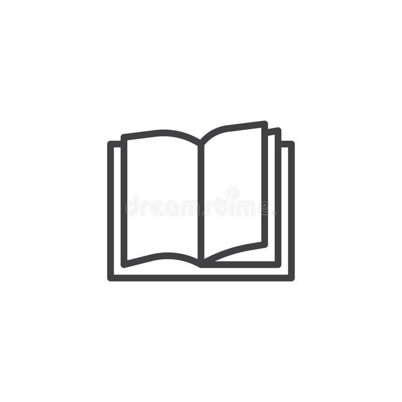Het pictogram van het boekoverzicht royalty-vrije illustratie