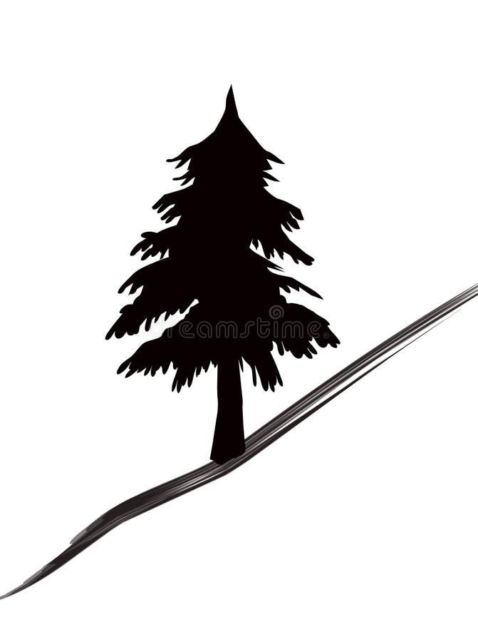 Download Het pictogram van bomen stock illustratie. Illustratie bestaande uit gebied - 295179