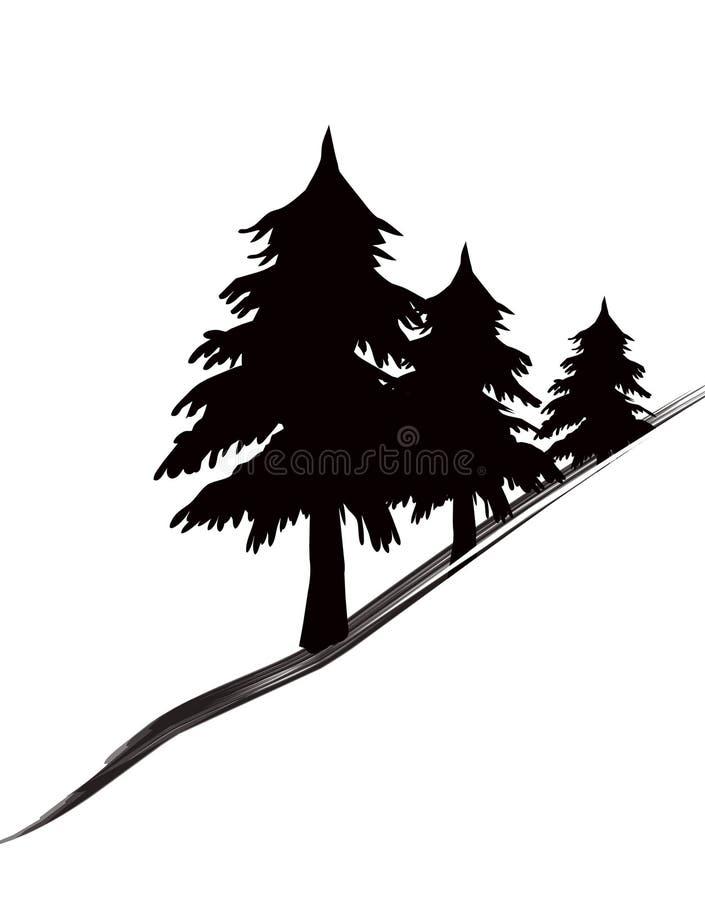 Download Het pictogram van bomen stock illustratie. Illustratie bestaande uit bladeren - 297374