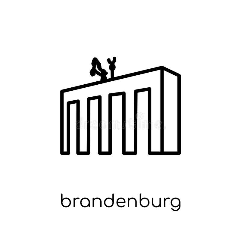 Het pictogram van Brandenburg In modern vlak lineair vectorbrandenburg i vector illustratie