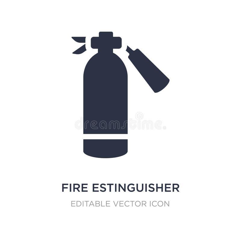 het pictogram van brandestinguisher op witte achtergrond Eenvoudige elementenillustratie van Algemeen concept vector illustratie