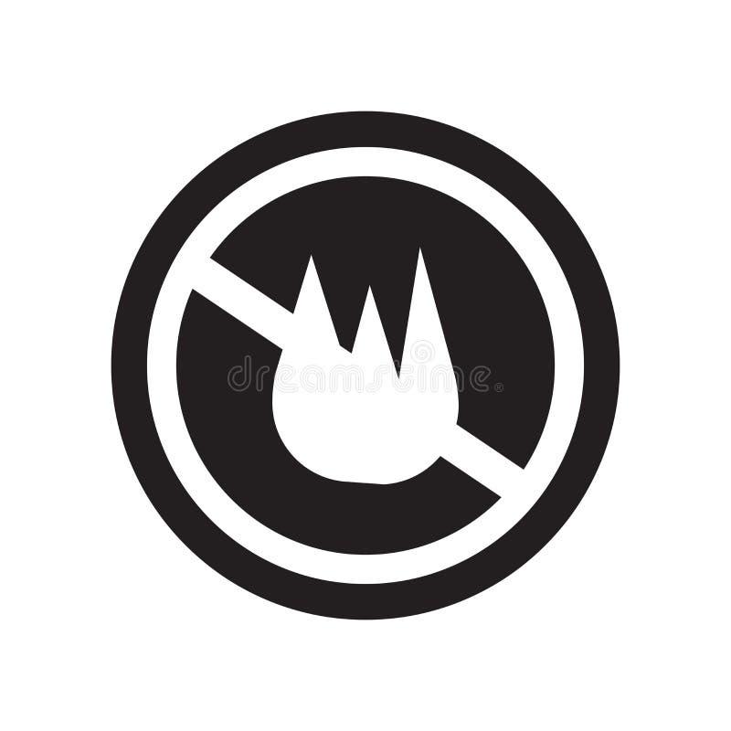het pictogram van het brandteken  vector illustratie