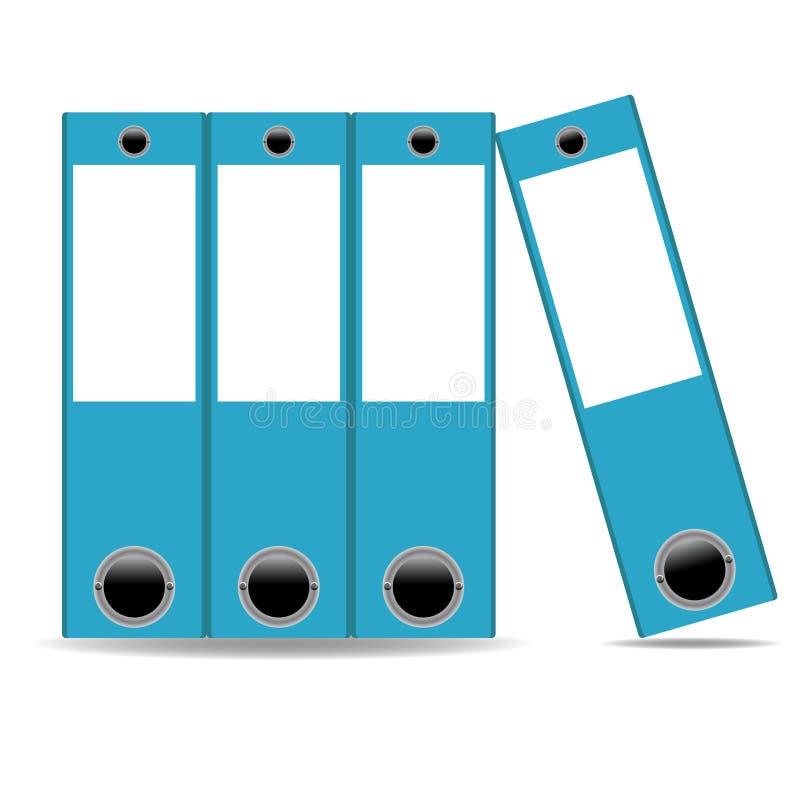 Het pictogram van bureauomslagen. Vectorillustratie stock illustratie