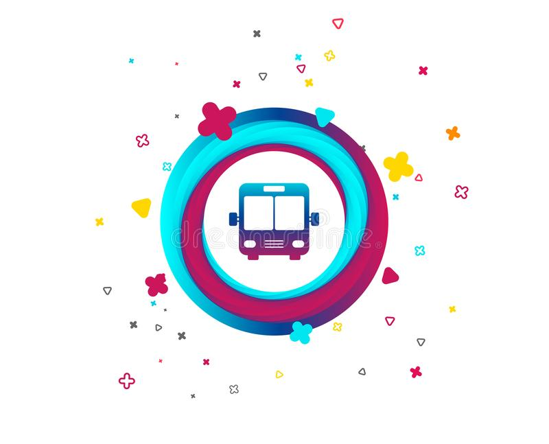 Het pictogram van het busteken Openbaar vervoersymbool royalty-vrije illustratie