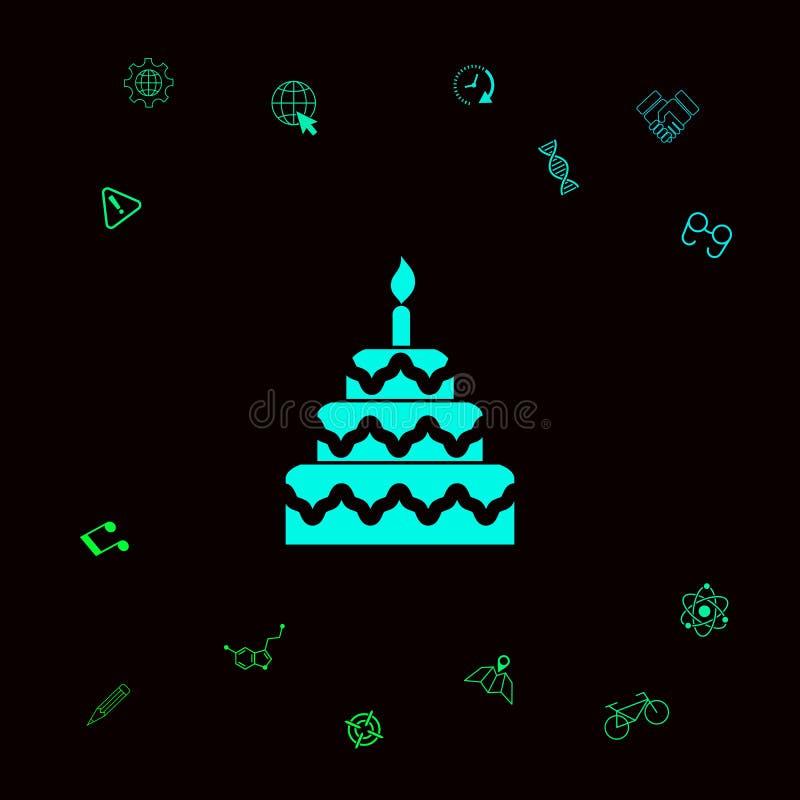 Het pictogram van het cakesymbool stock illustratie