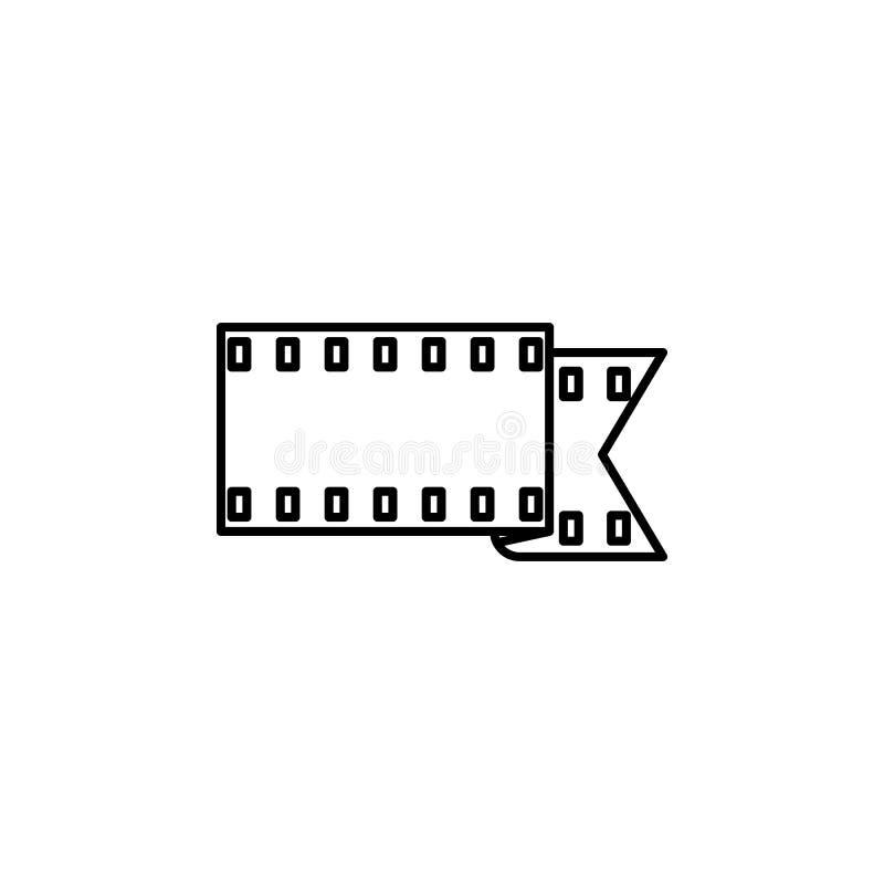 Het pictogram van het camerabroodje Element van eenvoudig pictogram voor websites, Webontwerp, mobiele app, informatiegrafiek Het royalty-vrije illustratie