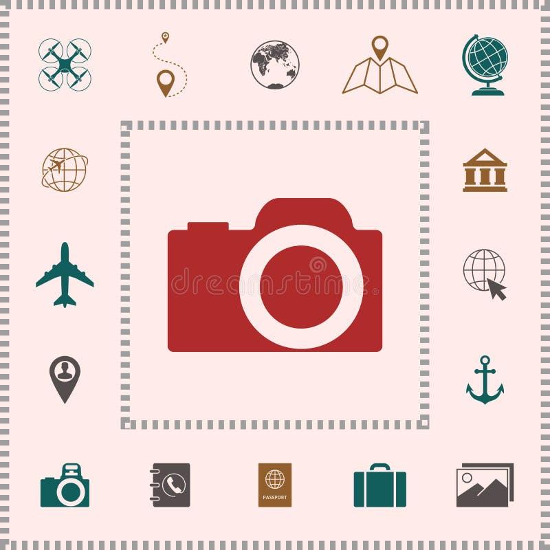 Het pictogram van het camerasymbool royalty-vrije illustratie