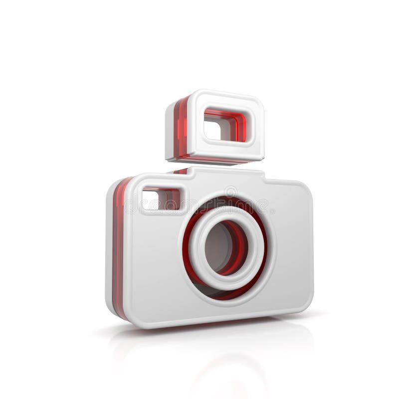 het pictogram van het cameraweb stock illustratie