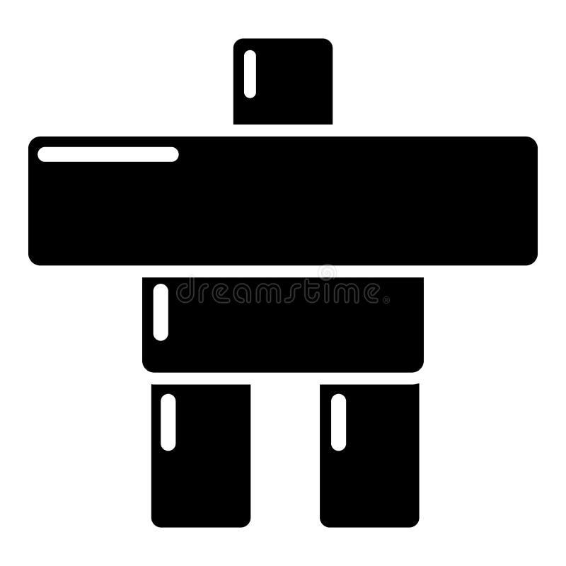 Download Het Pictogram Van Canada Van Het Steenbeeldhouwwerk, Eenvoudige Zwarte Stijl Vector Illustratie - Illustratie bestaande uit mens, canadees: 107708627
