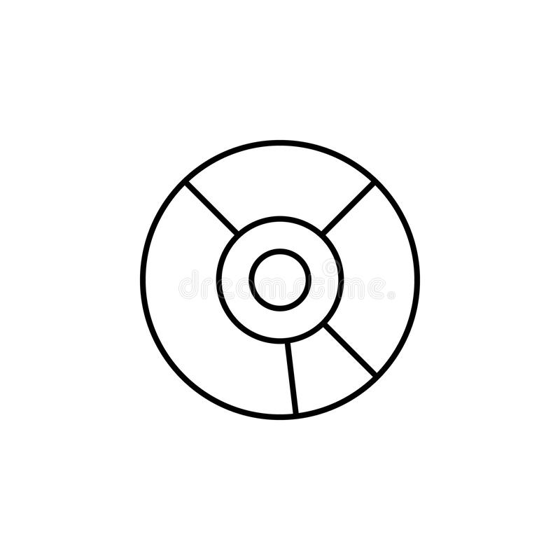Het pictogram van CD Element van eenvoudig pictogram voor websites, Webontwerp, mobiele app, informatiegrafiek Het dunne lijnpict stock illustratie