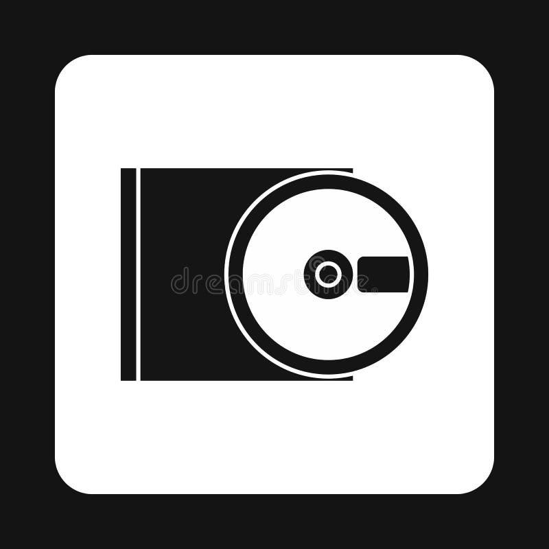 Het pictogram van CD-rom en van de schijf, eenvoudige stijl vector illustratie