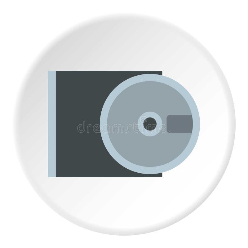 Het pictogram van CD-rom en van de schijf, vlakke stijl stock illustratie