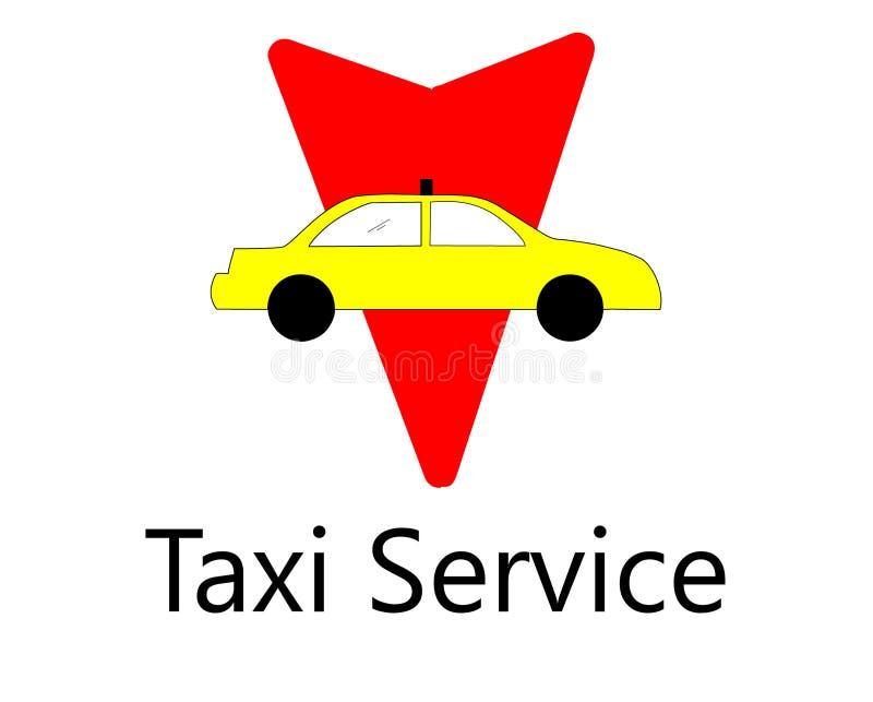 Het Pictogram van het het centrumembleem van de taxidienst royalty-vrije illustratie