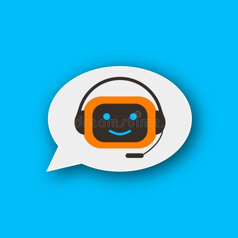 Het pictogram van het Chatbotconcept royalty-vrije illustratie