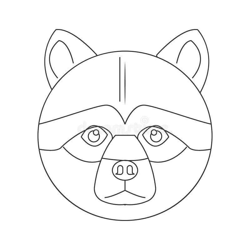 Het pictogram van het chow-chowgezicht Element van hond voor mobiel concept en webtoepassingenpictogram Overzicht, dun lijnpictog vector illustratie