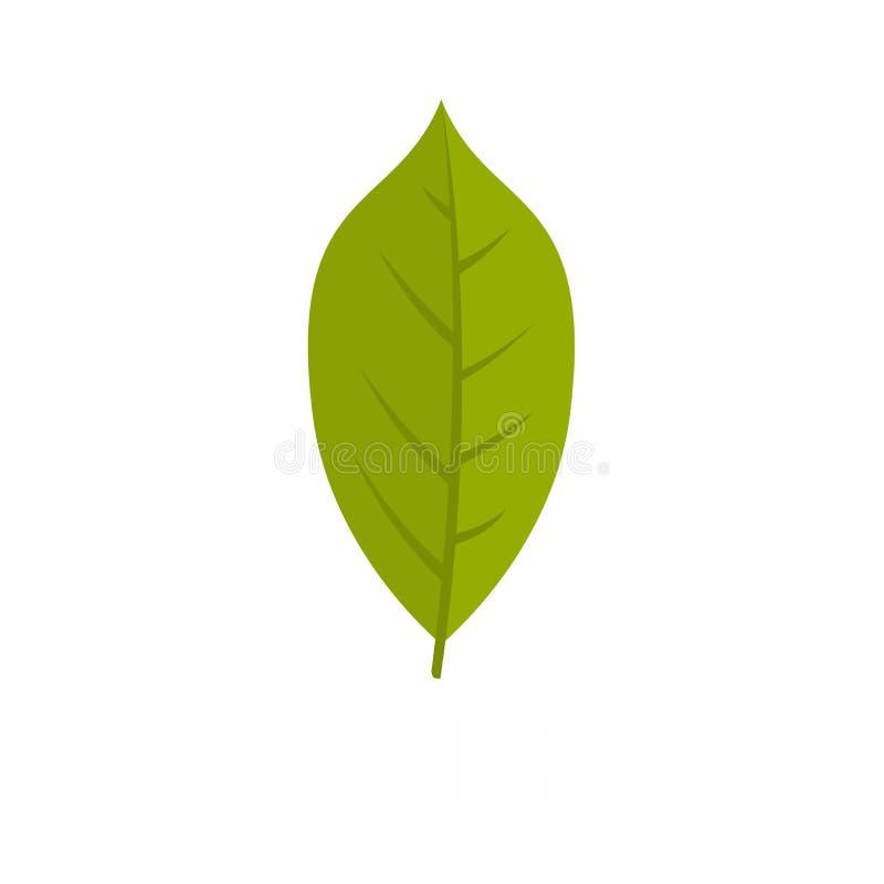 Het pictogram van het citroenblad, vlakke stijl royalty-vrije illustratie