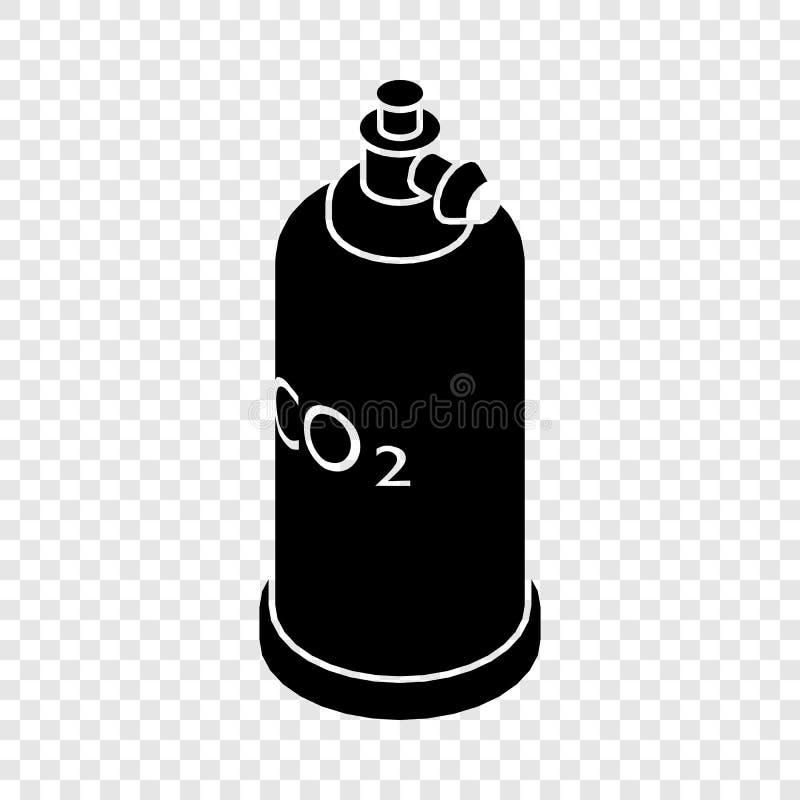 Het pictogram van Co2 van de lassencilinder, eenvoudige zwarte stijl stock illustratie