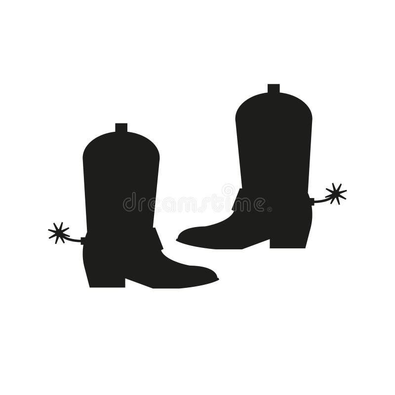 Het pictogram van cowboylaarzen Eenvoudige vectorillustratie stock illustratie