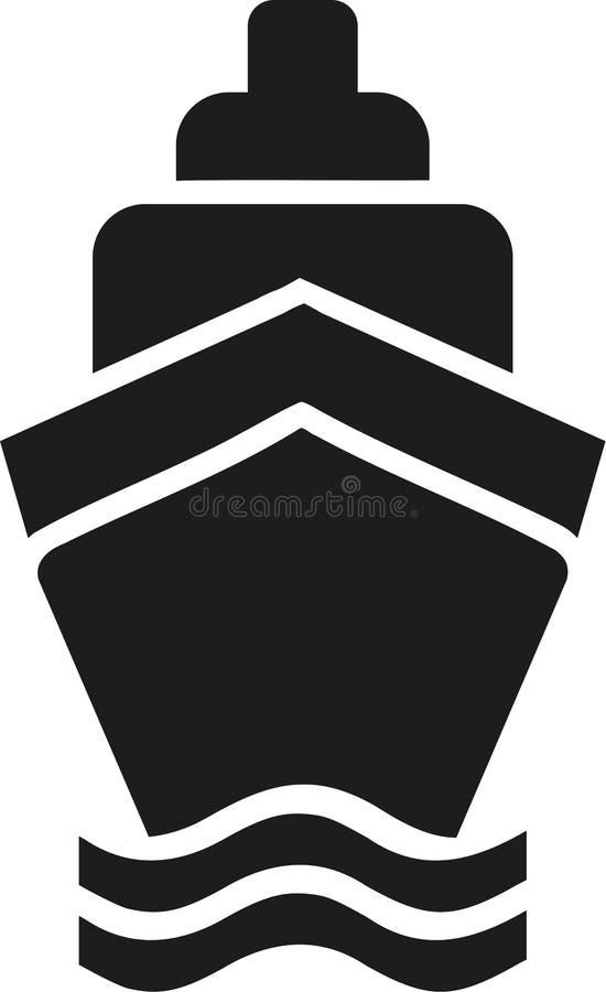 Het pictogram van het cruiseschip stock illustratie