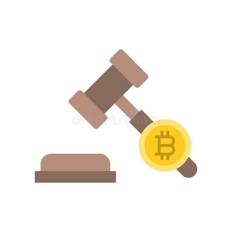 Het pictogram van Cryptocurrency wettelijke kwesties royalty-vrije illustratie