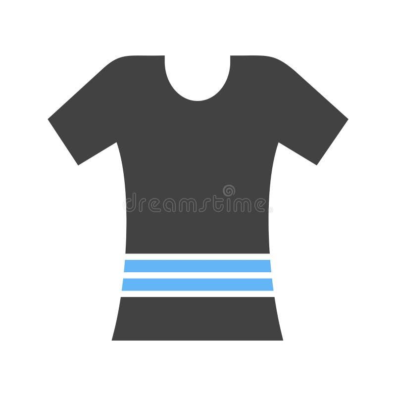 Het Pictogram van het damesoverhemd stock illustratie