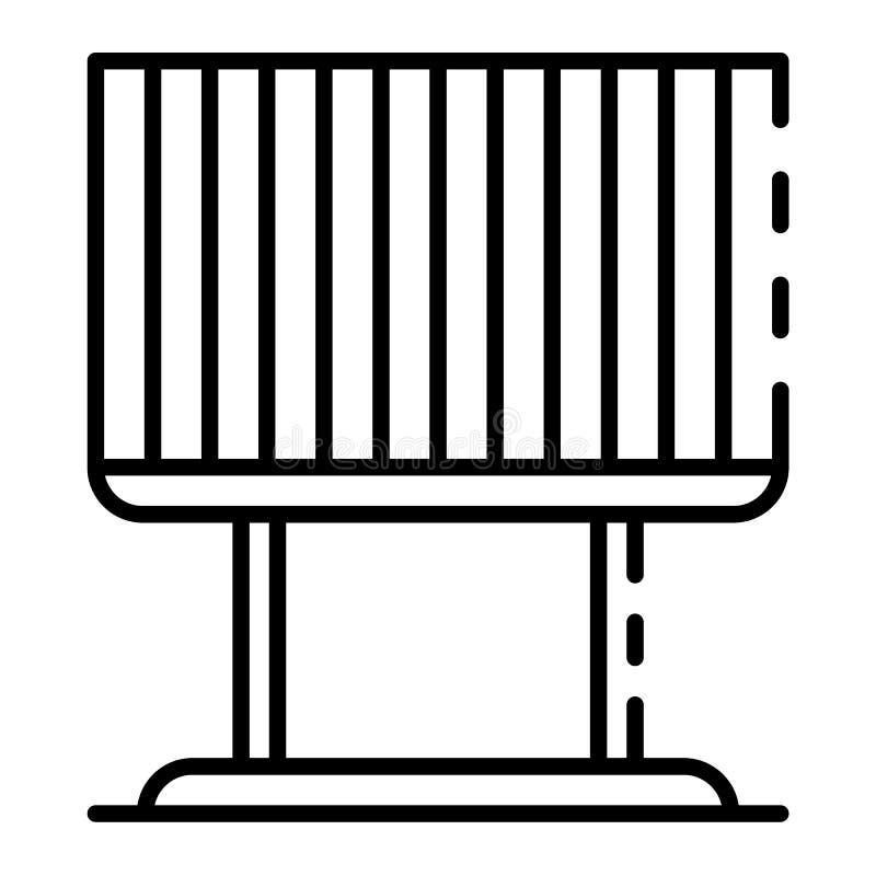 Het pictogram van de aanplakbordjaloezie, overzichtsstijl stock illustratie