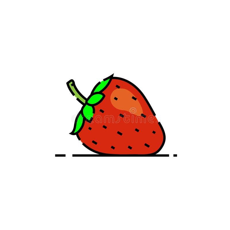 Het pictogram van de aardbeilijn stock illustratie