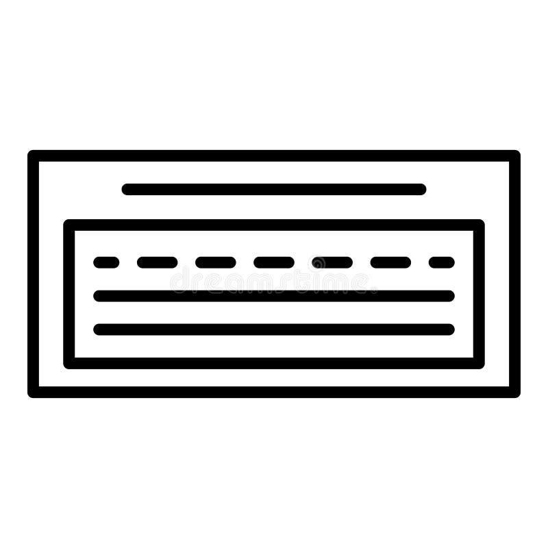Het pictogram van de aardewerktextuur, overzichtsstijl royalty-vrije illustratie