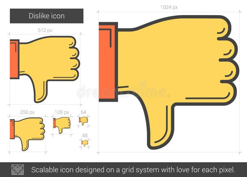 Het pictogram van de afkeerlijn royalty-vrije illustratie