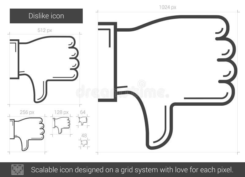 Het pictogram van de afkeerlijn vector illustratie