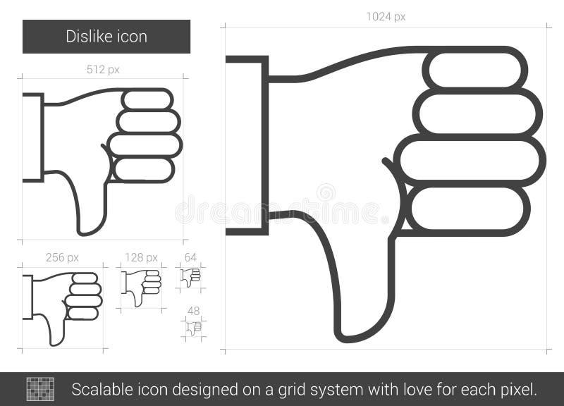 Het pictogram van de afkeerlijn stock illustratie