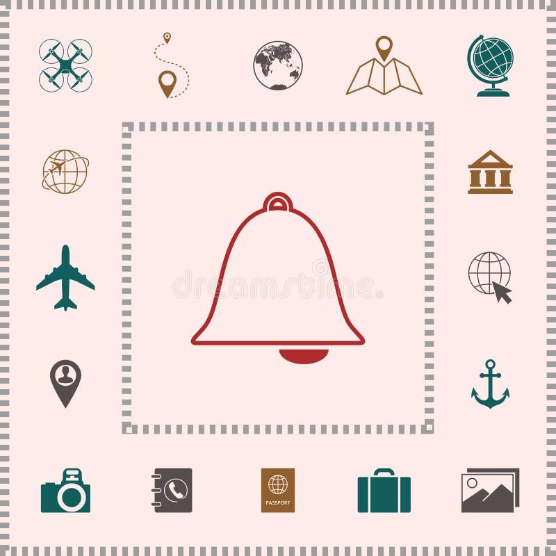 Het pictogram van de alarmklok stock illustratie