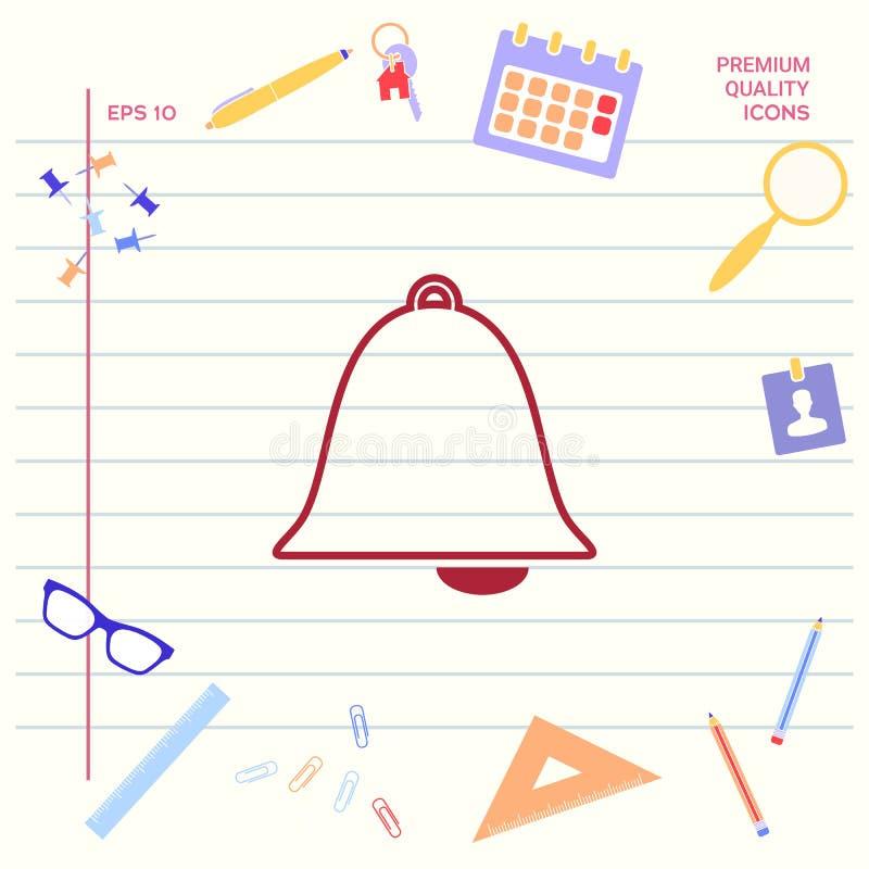 Het pictogram van de alarmklok vector illustratie