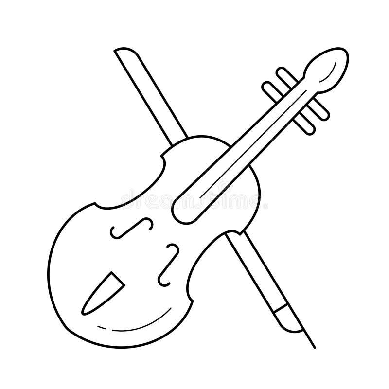 Het pictogram van de altvioollijn royalty-vrije illustratie