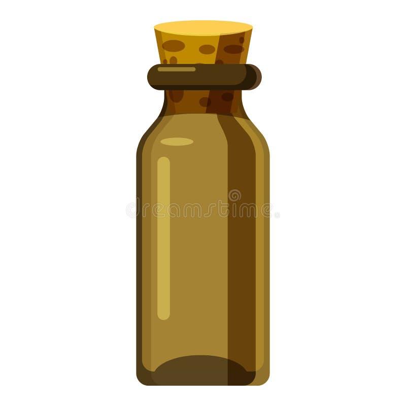 Het pictogram van de apotheekfles, beeldverhaalstijl vector illustratie