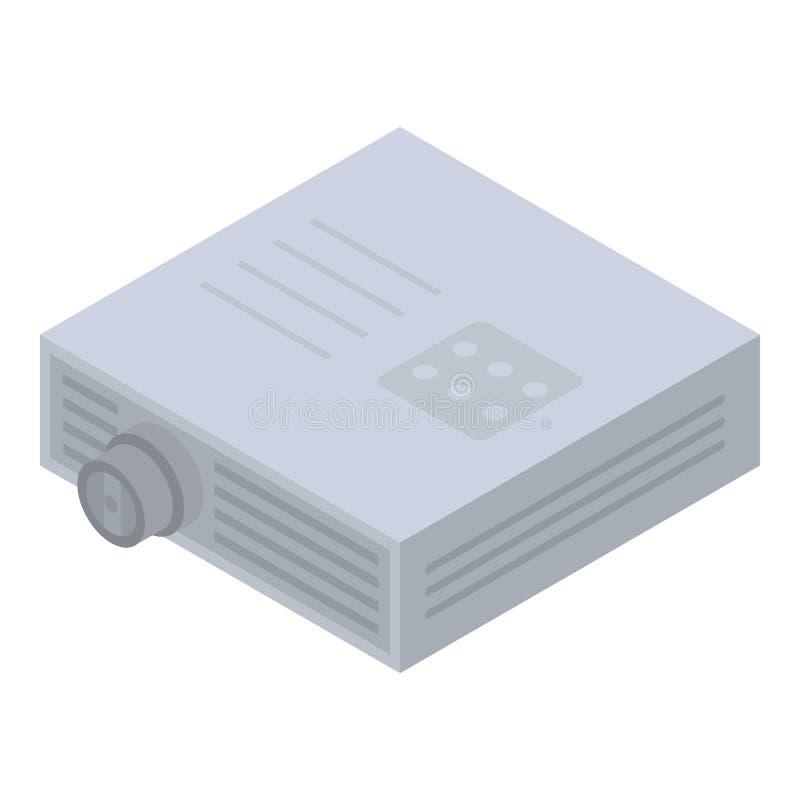 Het pictogram van de apparatenprojector, isometrische stijl stock illustratie