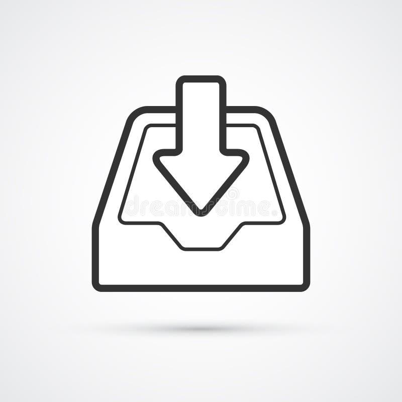 Het pictogram in pictogram van de archief vlak lijn Vector eps10 royalty-vrije illustratie