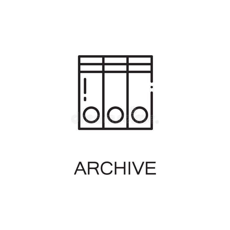 Het pictogram van de archieflijn vector illustratie